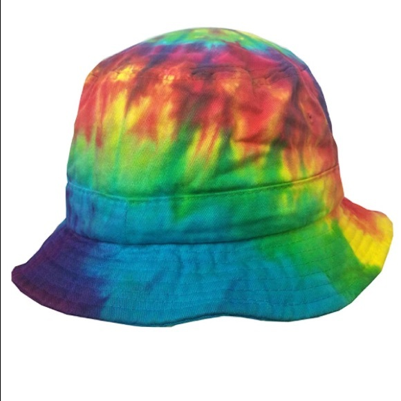 1b8d4a498f735 Rainbow tiedye bucket hat rave festival y2k unisex. NWT